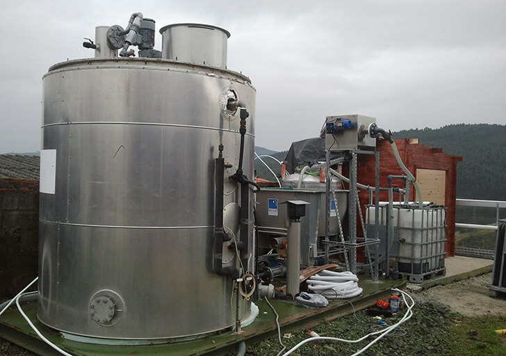 Planta piloto biogás Teican (Cantabria)